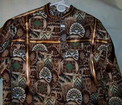 Tsalagi Aquelusdi Hawinianuwo (Cherokee Ribbon Shirt)