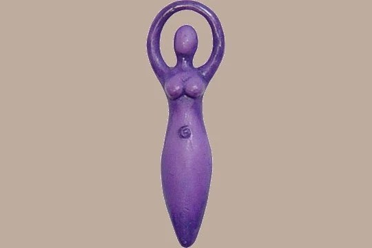 Purple Goddess Talisman Pendant - Package of 2