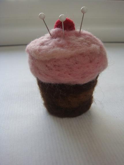 Strawberry Cupcake Pin Cushion