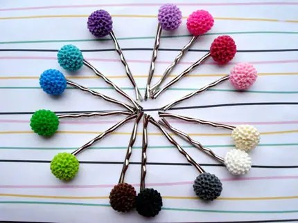 You Choose 5  Flower Hairpins