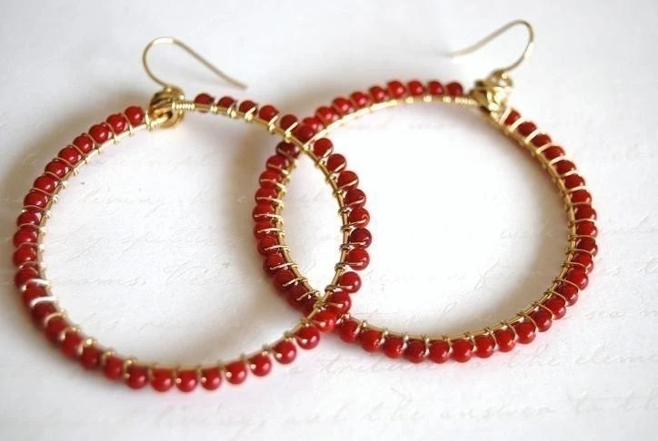 Coral wrapped hoops