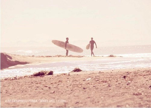 BOGO free - board meeting -  surfers - original fine art print (5x7)