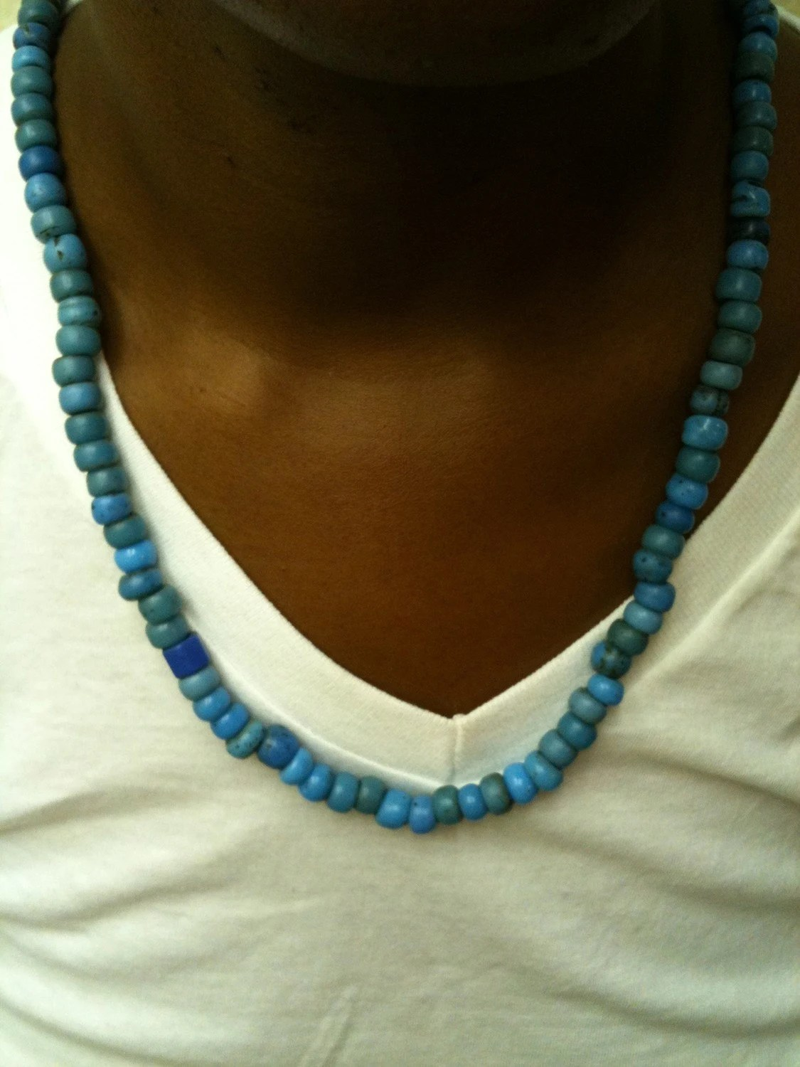 Turquoise strung beads