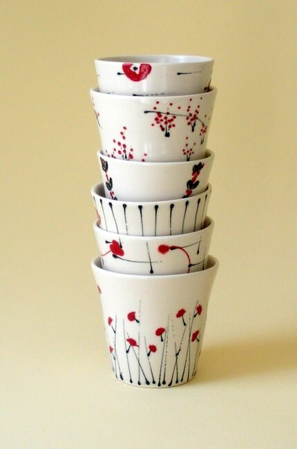 Set of Porcelain Cups