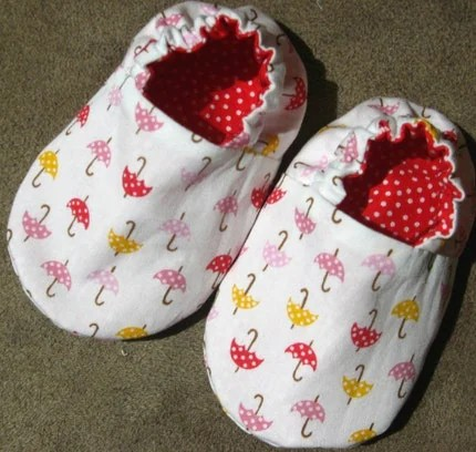 SALE, Reversible Baby Shoes, Rainy Days