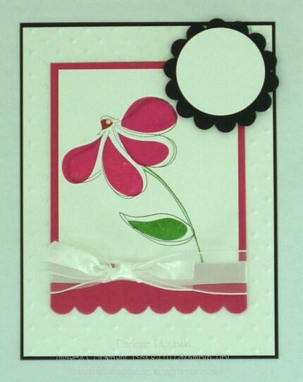 Design A Card-Pink Coneflower