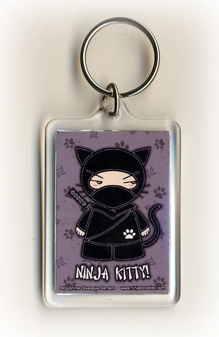 Ninja Kitty Ninjadorables Keychain by Delphine Levesque Demers