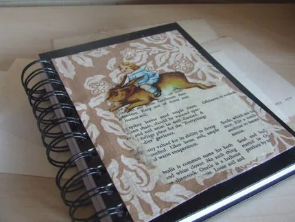 collaged spiral bound journal by wickedpen