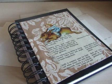 collaged spiral bound journal by wickedpen