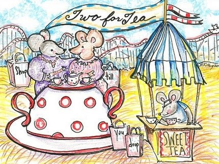 Sweetbs Tea for Two greeting card