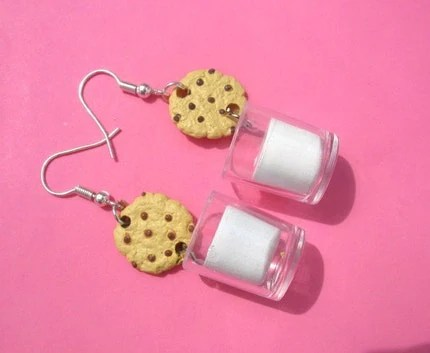 Dunking the Cookie Dangle Earrings