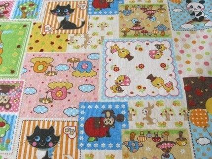 Cute Animal Patchwork Japanese Fabric Half Yard