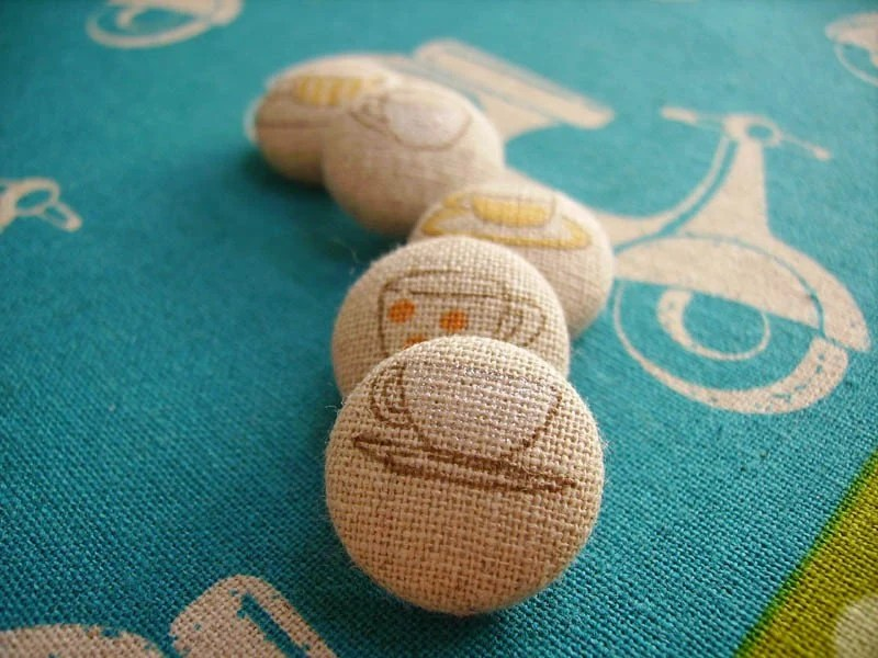 Tea Time Sew On Buttons