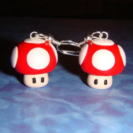 Nintendo Mushroom Earrings