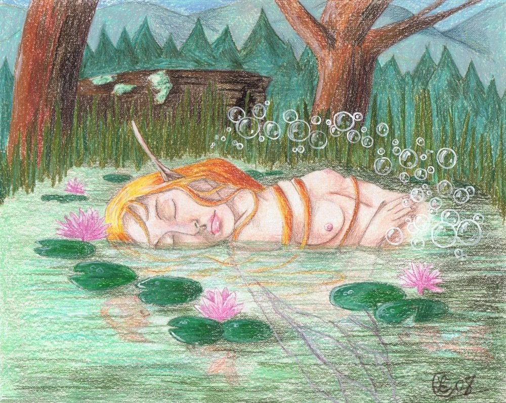 Sleeping Pond Faerie Original not a print