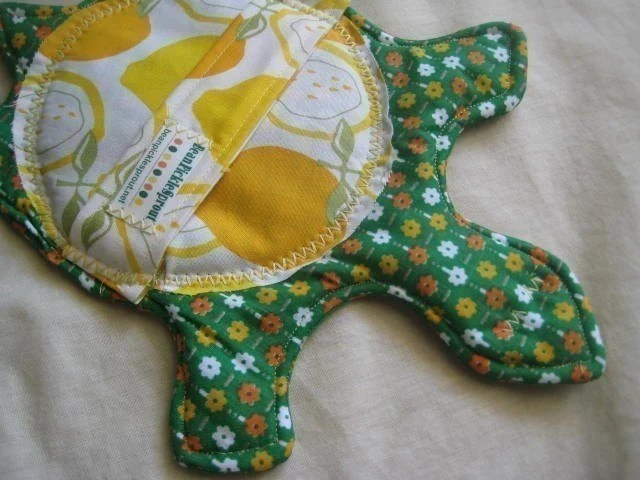 Green Turtle Potholder