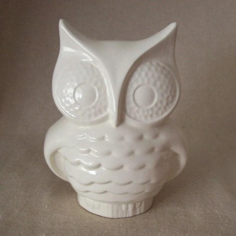 Ceramic owl vintage style planter - etsy