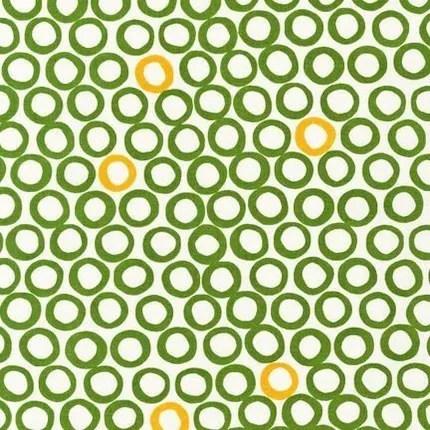 NEW from Jennifer Moore of Monaluna, Mingle, Circles, Leaf, 1 Yard