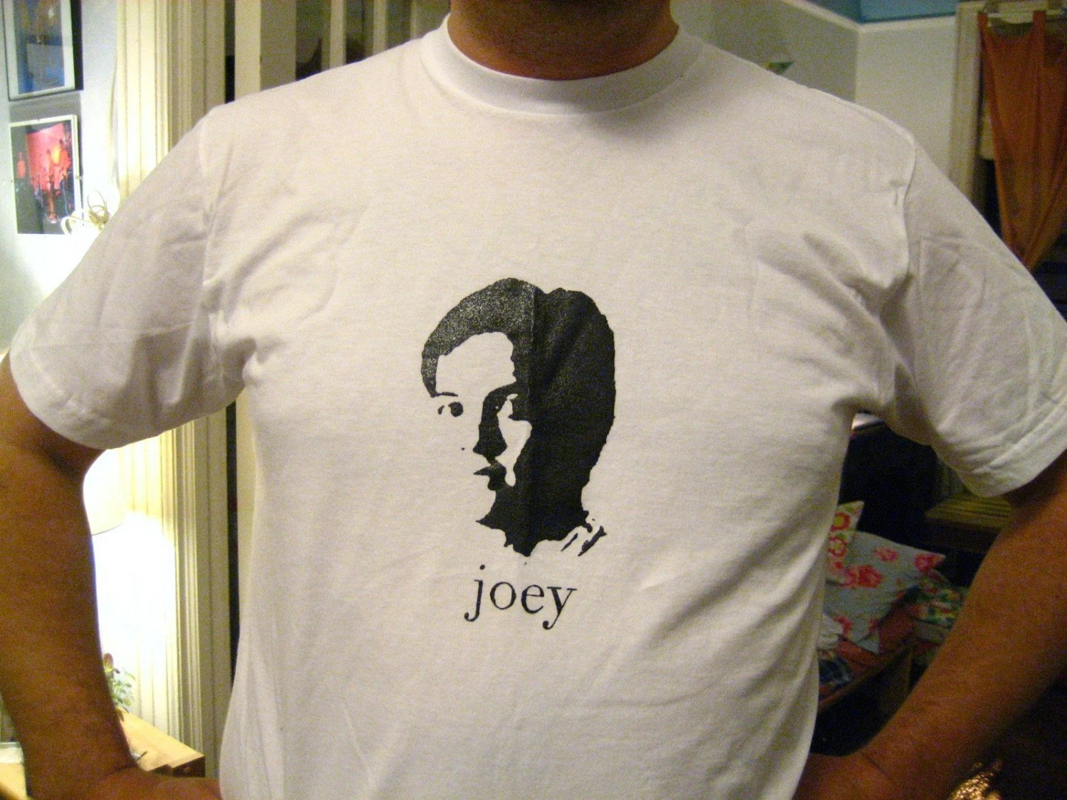 Joey Santiago Silk Screened Men's Large T-shirt