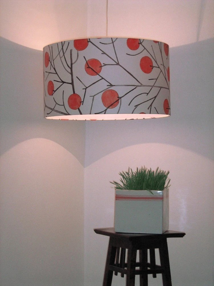 Vintage Wallpaper Lampshade by drawflowers