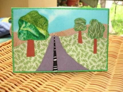 Summer Road Trip - Fabric Postcard