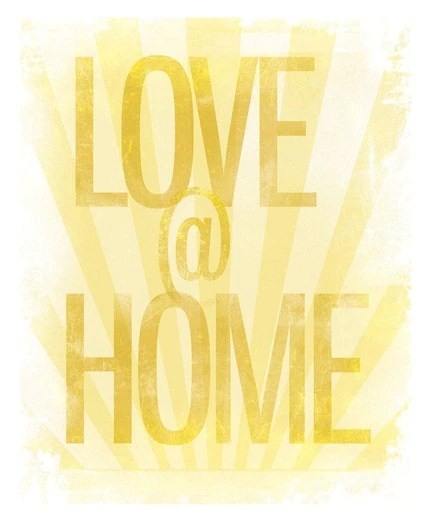 5x7 Love at Home cheap-n-chic print