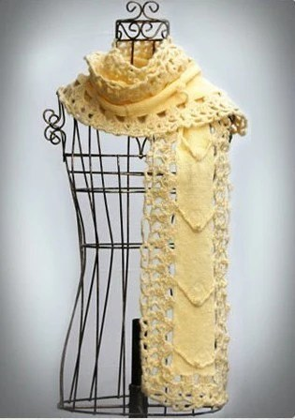Fresh Lemon Scarf - free corsage