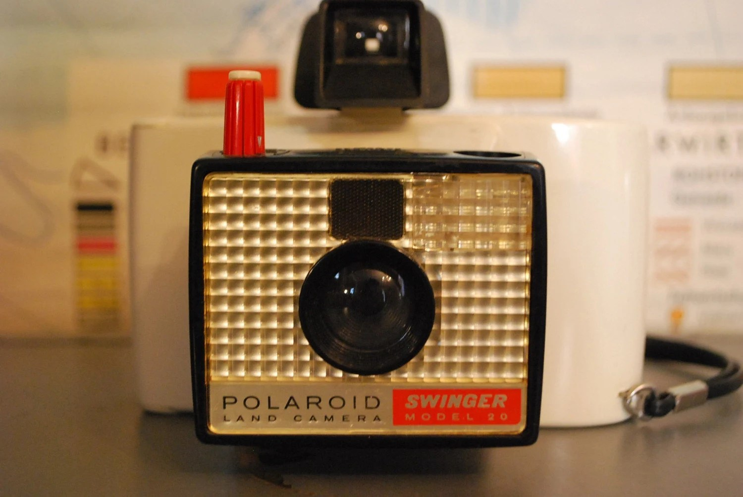 Vintage Polaroid Swinger Land Camera With Box