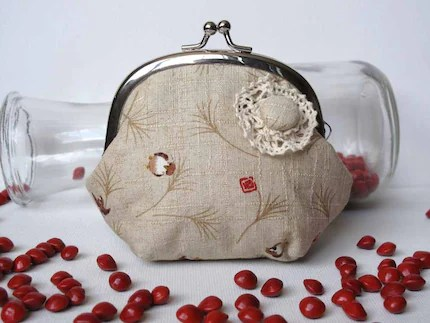 Brown Birdies Pouch