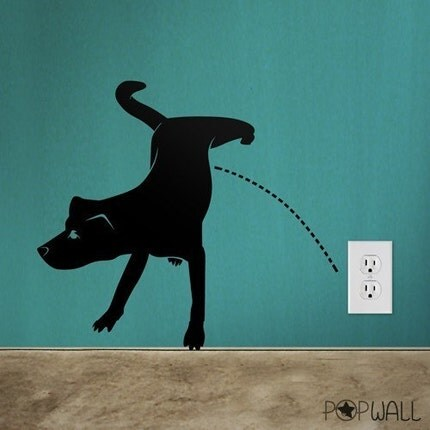 Dog Pissing by Pop Wall