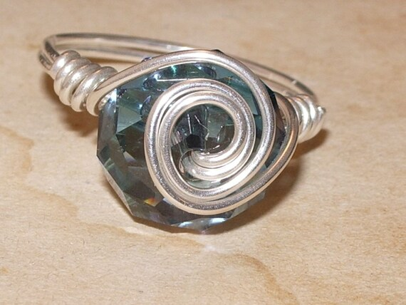 Crystal Titan Twister and Sterling Silver Ring