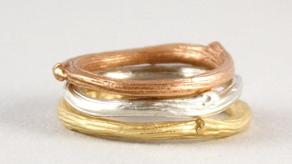 Twig Rings- 2mm wide - Available in Shades of Gold