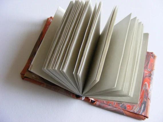 Handbound marbled notebook