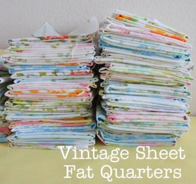 Vintage linens fat quarters