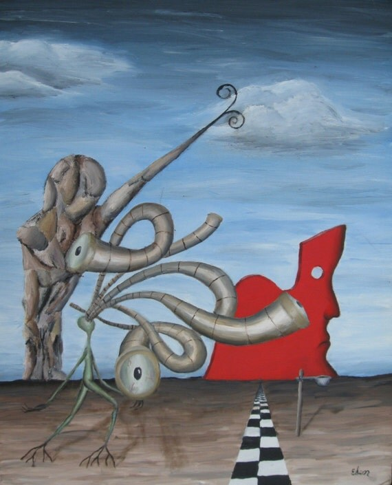 Surrealistic Oil Painting - The Philosopher