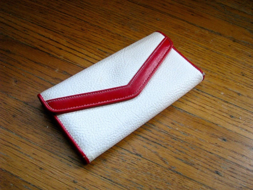 Red and White Nautical Wallet
