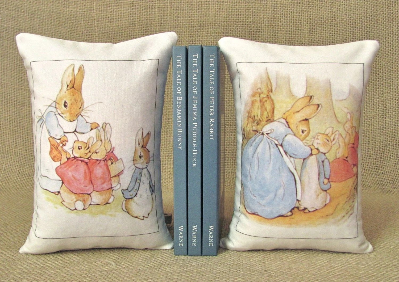 Beatrix Potter Peter Rabbit Bookends - Shelf Pillows Set Two