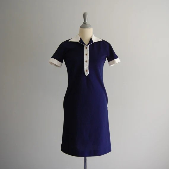 Navy Mod Mini Dress
