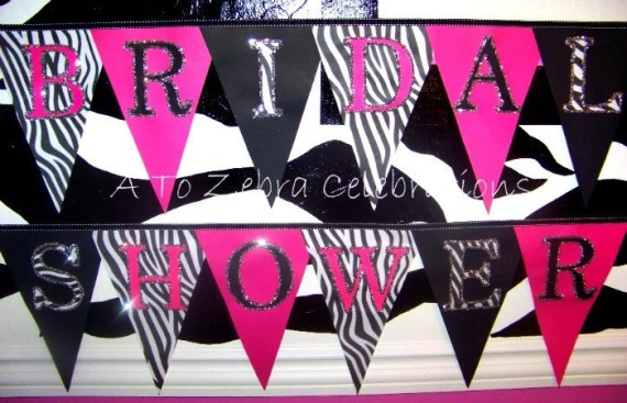 Bridal Shower Zebra Banner