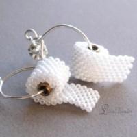 Beaded Miniature Toilet Paper Roll Earrings  Hello Adorable!