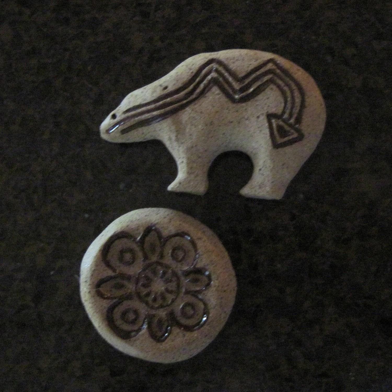 Bear and Mandala Magnet Set