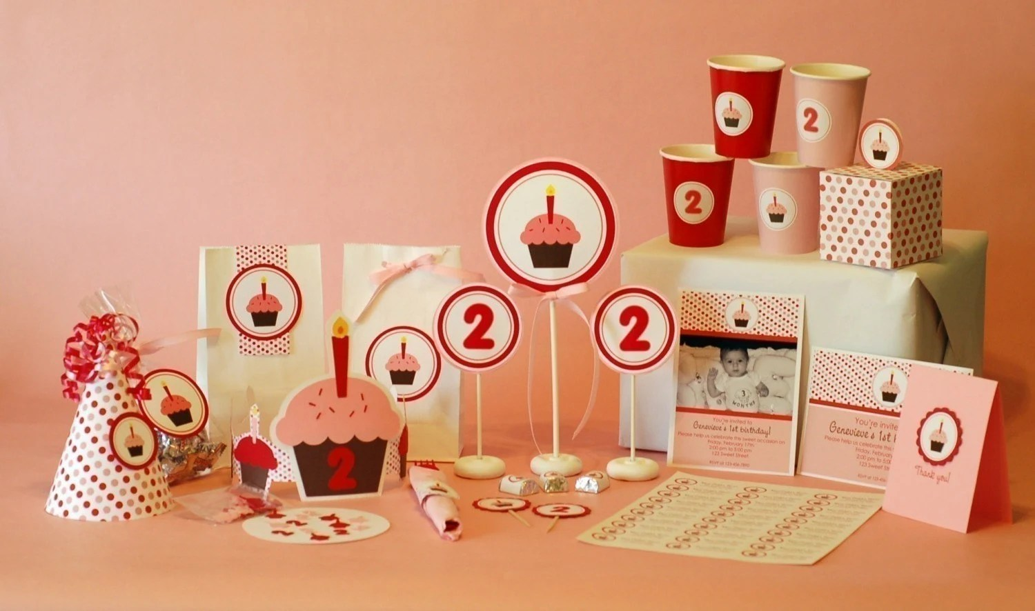 Printable Cupcake Party
