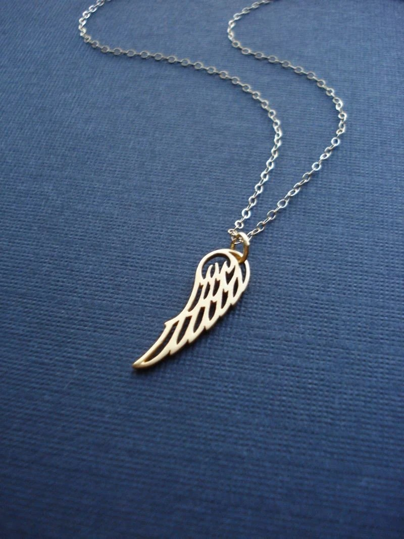 24K Gold Angel Wing Necklace