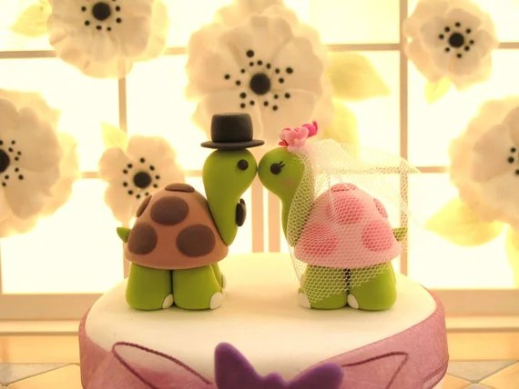 PROMOTION-------LOVE ANGELS Wedding Cake Topper-love turtles