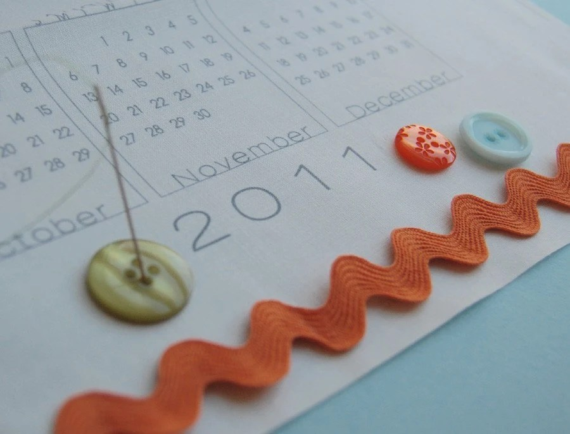 SALE 2011 DIY Calendar Panel - Mini - ONLY ONE LEFT