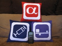 Set of 3 Stat Icon Pillow Covers - Made to Order