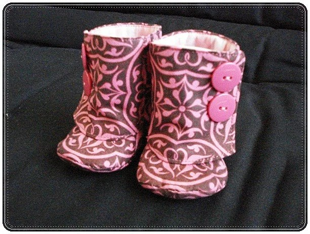 BABY Boots Size 0  BROWN and PINK