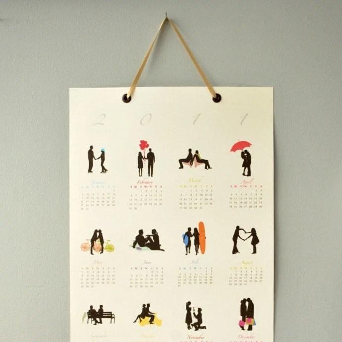 25 PERCENT OFF - 2011 Silhouettes Poster Calendar by Le Papier Studio - 13x19