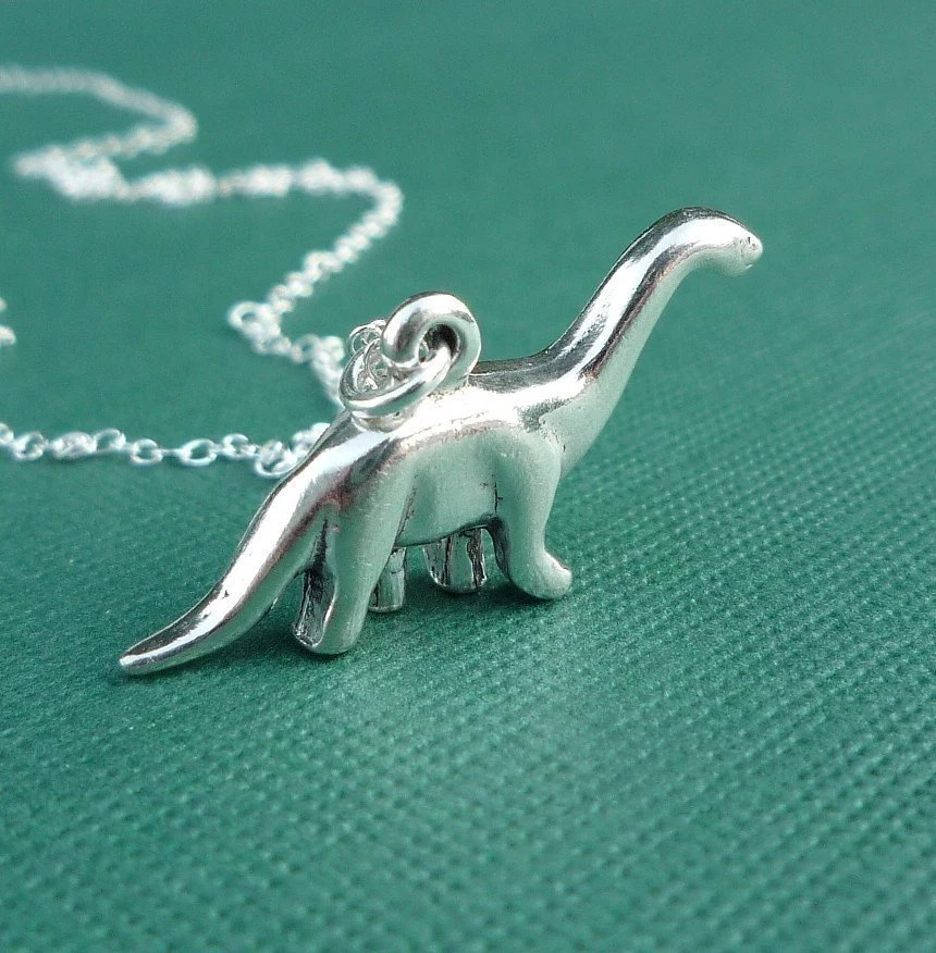 Sterling Brontosaurus Necklace