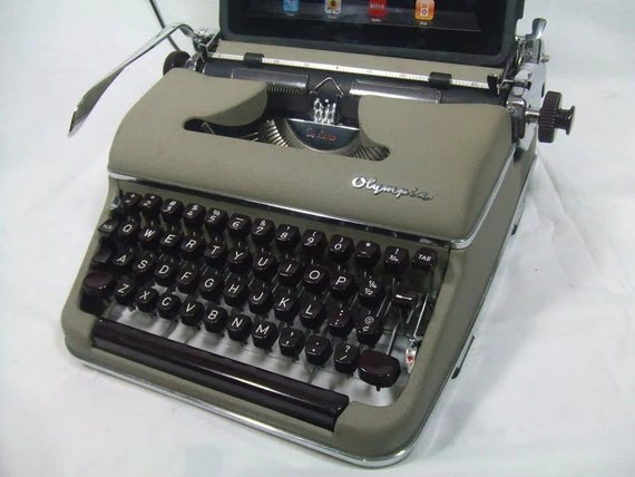 USB Typewriter for PC, Mac, iPad -- Cream Olympia Deluxe
